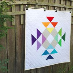 Crown of Thorns Mini Quilt by Amanda from 3and3quarters. (RJR Supreme Cotton Fabrics Blog Hop)