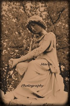 Someone To Watch Over Me, fine art photography, still life historic cemetery statue