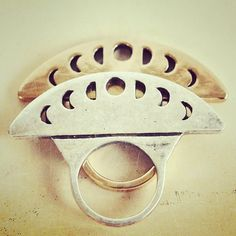 The Lunar phase ring by Pamela Love