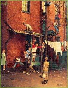 Norman Rockwell's Homecoming - 1715 7th Avenue in Troy, New York