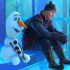 Olaf's expression, and Kristoff looks genuinely bummed about not being able to see the ice palace