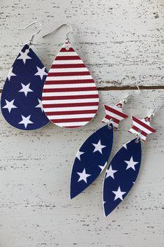 Teardrops Faux Leather Patriotic Leather Alternative