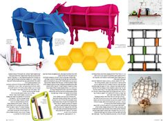 We need, NEED, a cow book shelf.  Vaco by Dennys Tormen, via Behance -km