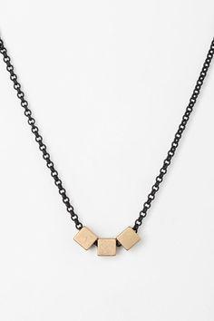 Gabriela Artigas Triple Squares Necklace, $120.00, #urbanoutfitters