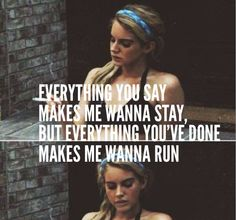 Lana Del Rey - Butterflies _ Everything you say makes me wanna stay, but everything you've done makes me wanna run.