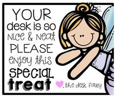 FREE DESK FAIRY {TAGS} I don't have desks in my room since I teach Spanish to almost 300 children every week! , but if I had kids with desks I would use this. First Grade Classroom, Kindergarten Classroom, School Classroom, School Fun, Classroom Ideas, Future Classroom, Classroom Incentives, School Ideas, Student Incentives