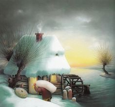 Наивная живопись Хорватии / Зима (ч.2): vasily_sergeev
