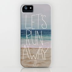 Let's Run Away: Sandy Beach, Hawaii iPhone Case by Leah Flores Designs | Society6