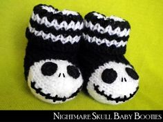 2014 Accessory Patterns - Nightmare Skull Baby Booties - LoveItSoMuch.com