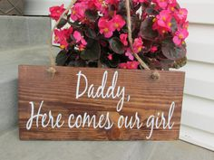 DADDY here Comes MOMMY Summer wedding Ring BearerHere by JCWShop, $22.00
