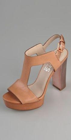 MK Platform T-Strap Sandals