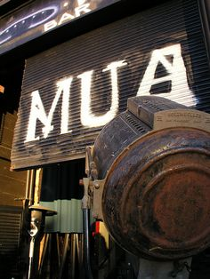 MUA restaurant in Uptown Oakland, CA. Beers, cocktails and small plates in a great converted warehouse environment.  Sunny picnic tables out front, when the weather is good.
