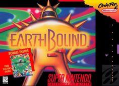 EarthBound (Super Nintendo, SNES) - Reproduction Game Cartridge w/ Custom Miniature Box