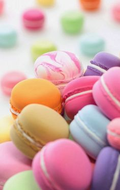 iPhone iPod +other apple devices can use this lovely macaroons wallpaper please follow if want more phone item + things:)