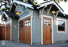 There is nothing more stunningly authentic than our wooden carriage doors. Visit our gallery to see pictures of our carriage house and garage door designs. Carriage House Garage Doors, Wooden Garage Doors, Carriage Doors, Garage Door Design, House Doors, Barn Doors, Wooden Garages, Cedar Garage Door, Garage Door Colors
