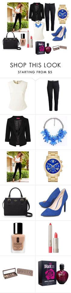 """Office"" by dzenitab ❤ liked on Polyvore featuring Bouchra Jarrar, H&M, Boohoo, Venus, Kate Spade, Nine West, Clinique, Ilia, Urban Decay and Paco Rabanne"