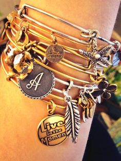 Alex & Ani Bracelets are perfect ways to personalize your style! They also make great gifts #Love #Trendy
