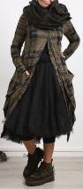 rundholz black label - Mantel mit Reißverschluss und Taschen gemustert 004 - Winter 2018