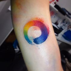 circle rainbow tattoos for women - SheIdeas Circle Tattoos, Love Tattoos, Beautiful Tattoos, Body Art Tattoos, New Tattoos, Tattoos For Guys, Tattoos For Women, Tatoos, Tattoo Women