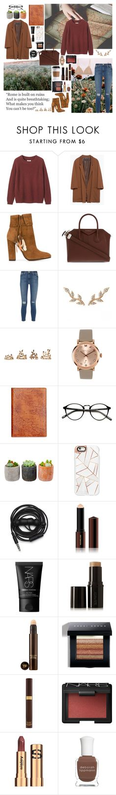 """""""We are the poisoned youth"""" by angie-5soslm ❤ liked on Polyvore featuring Toast, Zara, Aquazzura, Givenchy, Frame Denim, Allurez, Forever 21, Marc by Marc Jacobs, Patricia Nash and Shop Succulents"""
