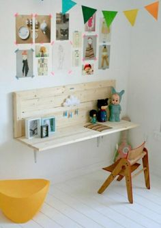 6 amazing kids rooms! would work for more than kids rooms...desk