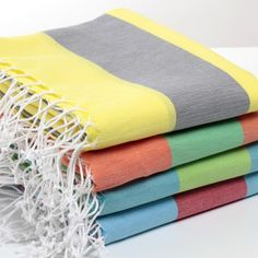 Colorful Turkish Towel pestemals, made of %100 genuine cotton