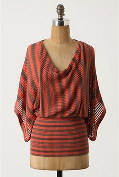 a way to wear something super slouchy without losing shape. love the colors and the multi-directional stripes.
