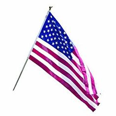 Valley Forge Flag All American Series 3 x 5 Foot Polycotton US American Flag Kit with 6-Foot Steel Pole and Bracket