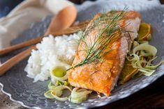 Miso Salmon with Orange and Fennel Recipe