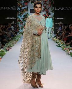 Mint Green Anarkali Suit- Buy Shyamal & Bhumika,Shyamal & Bhumika-Lakme'14 Online | Exclusively.in