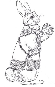 Bunny Coloring Page Auf Janbrett