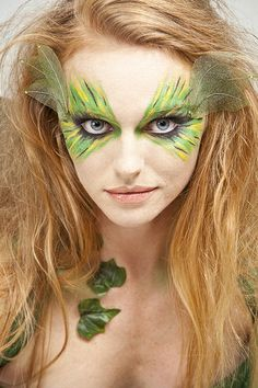 maquillaje fantasia selva