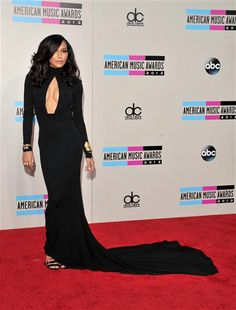 Naya Rivera attends the American Music Awards at Nokia Theatre L.A. Live in Los Angeles on Nov. 24, 2013.