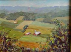 """Daily Paintworks - """"View From Jacks Mountain"""" - Original Fine Art for Sale - © Lina Ferrara"""