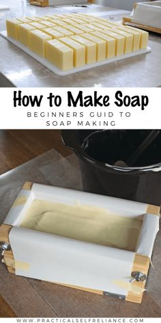 How to Make Soap ~ Soap Making for Beginners Soap Making Recipes, Homemade Soap Recipes, Making Bar Soap, Homemade Soap Bars, Crafting Recipes, Soap Making Supplies, Homemade Products, Fun Recipes, Homemade Gifts