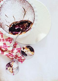 Blueberry Pudding Cake + recipe #summerrecipe #blueberry