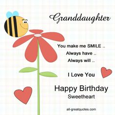 Happy birthday wishes for granddaughter happy birthday to a very very special free birthday cards for granddaughter m4hsunfo
