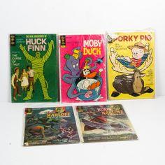 "Gold Key Comics with ""Huck Finn"" and ""Boris Karloff"""