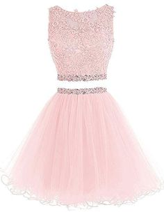 Kaufen Sie Henglizh Short Lace Appliques Beaded Two Pieces Abendkleid Homecoming Kleider online – Topamazingtrendy Lace Homecoming Dresses, Hoco Dresses, Quinceanera Dresses, Sexy Dresses, Casual Dresses, Formal Dresses, Summer Dresses, Wedding Dresses, Dresses Dresses