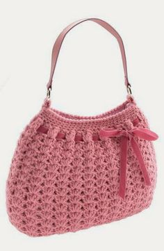 Beautiful and perfect pink Crochet bag!