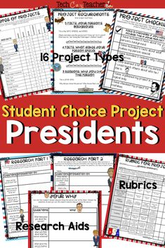 This Presidents Project allows students to CHOOSE their own way of sharing their knowledge about our American Presidents. The projects showcase students' talents and interests! Students are able to select between 16 varied projects. No more 20 posters! Language Activities, Classroom Activities, Spring Activities, Christmas Activities, Special Education Teacher, Teacher Blogs, Teacher Resources, Teaching Ideas, 21st Century Schools