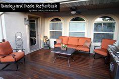 Backyard Deck Refurbish: I need to do this.