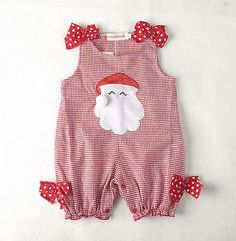 Holiday Boy   Girl Santa Outfit Twins