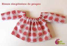 Blouse poupee...   Ne fonctionne pas avec une poupée modèle Waldorf... L'idée est très sympa mais j ai dû revoir les mensurations à la hausse ;