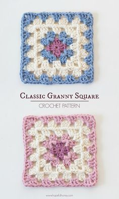 Hopeful Honey | Craft, Crochet, Create: Classic Granny Square - Free Crochet Pattern                                                                                                                                                     More