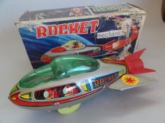 GREECE* RARE VINTAGE GREEK ROCKET SPACE SHIP TOY BY PRIFTIS IN BOX