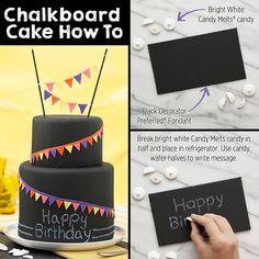 Chalkboard Cake on Wilton.com