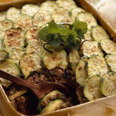 Découvrez la recette Gratin de courgettes au bœuf sur cuisineactuelle.fr.