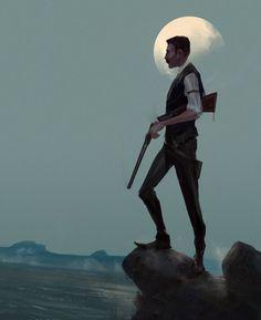 regram @ilovefantasyart Title: Hunter Artist: Damian Audino #picoftheday…