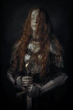 """rabidchilde: """" nostalgicgirl99: """"Queen of the North """" Long, flowing hair fit for battle. Source: http://www.sheridansart.com/arcadia/ """""""